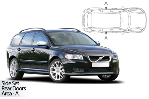 UV Car Shades - Volvo V50 Estate 03-12 Rear Door Set