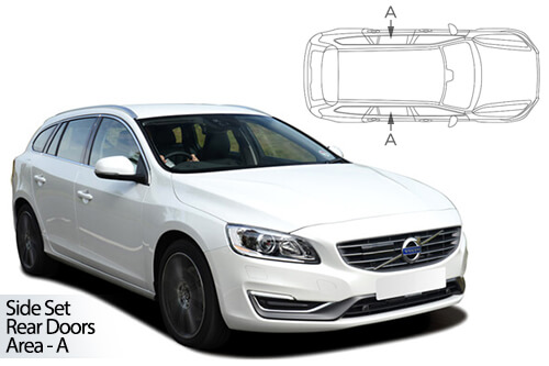 UV Car Shades - Volvo V60 Estate 10-18 Rear Door Set