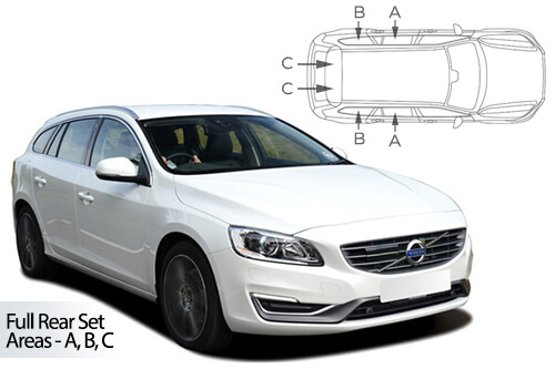 UV Car Shades - Volvo V60 Estate 10-18 Full Rear Set