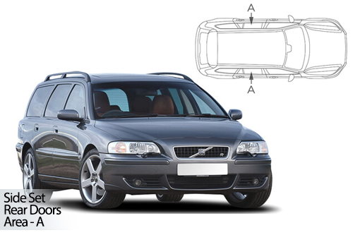 UV Car Shades - Volvo V70 Estate & XC70 2001-07 Rear Door Set