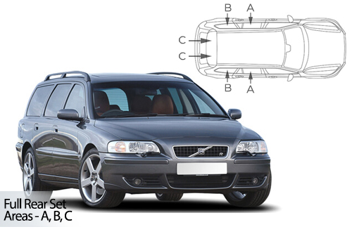 UV Car Shades - Volvo V70 Estate & XC70 2001-07 Full Rear Set