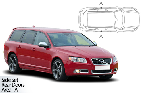 UV Car Shades - Volvo V70 Estate 07-16 Rear Door Set