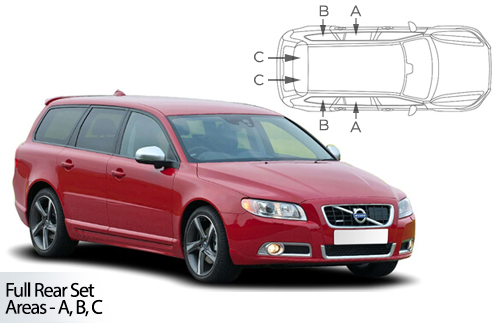 Car Shades Volvo V70 Estate 07-16 Full Rear Set