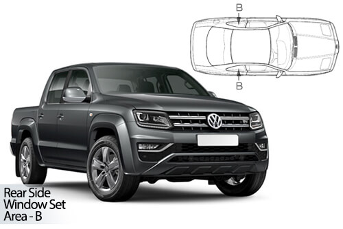 Car Shades Volkswagen Amarok Pick Up 10> Rear Door Set