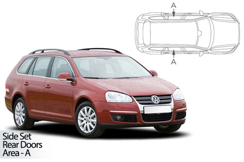 Car Shades Volkswagen Golf (MK 5) Estate 03-08 - Rear Door Set