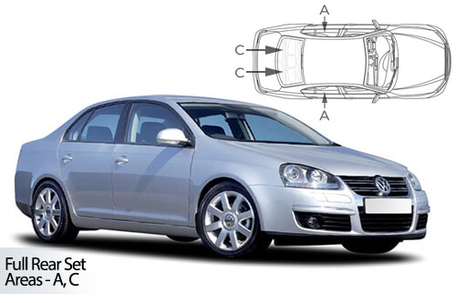 Car Shades Volkswagen Jetta 4 door 06-10 Full Rear Set
