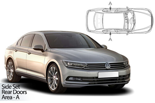 Car Shades VW Passat 4dr 2015> - Rear Door Set