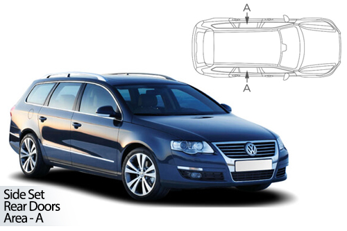 UV Car Shades - VW Passat Estate 06-11 Rear Door Set