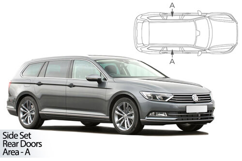 UV Privacy Car Shades - VW Passat Estate 2015> Rear Door Set