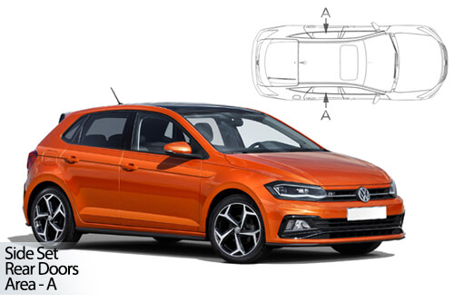 Car Shades VW Polo 2017> 5 Door - Rear Door Set