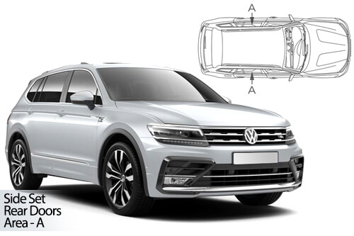UV Car Shades - VW Tiguan Allspace LWB 2016> - Rear Door Set