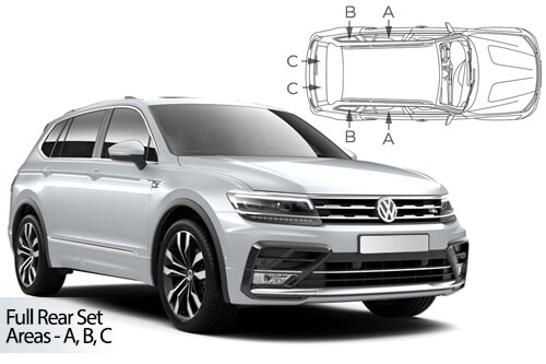 UV Car Shades - VW Tiguan Allspace LWB 2016> - Full Rear Set