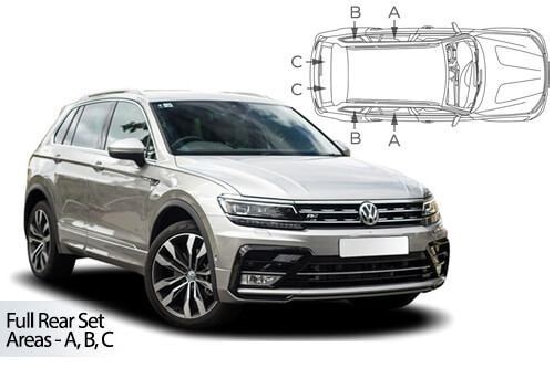 Car Shades Volkswagen Tiguan SWB 5 door	16> Full Rear Set
