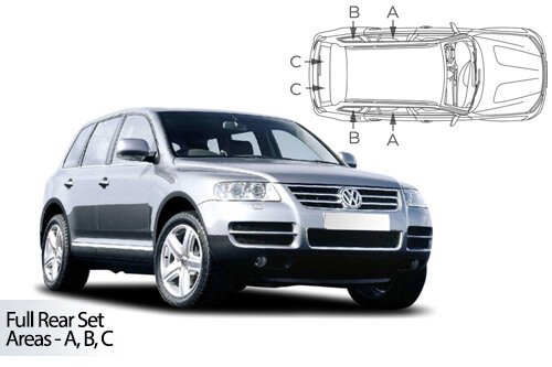 Car Shades Volkswagen Touareg	5 door 03-10 Full Rear Set