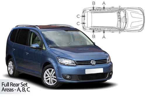 Car Shades Volkswagen Touran 5 door	10-15 Full Rear Set