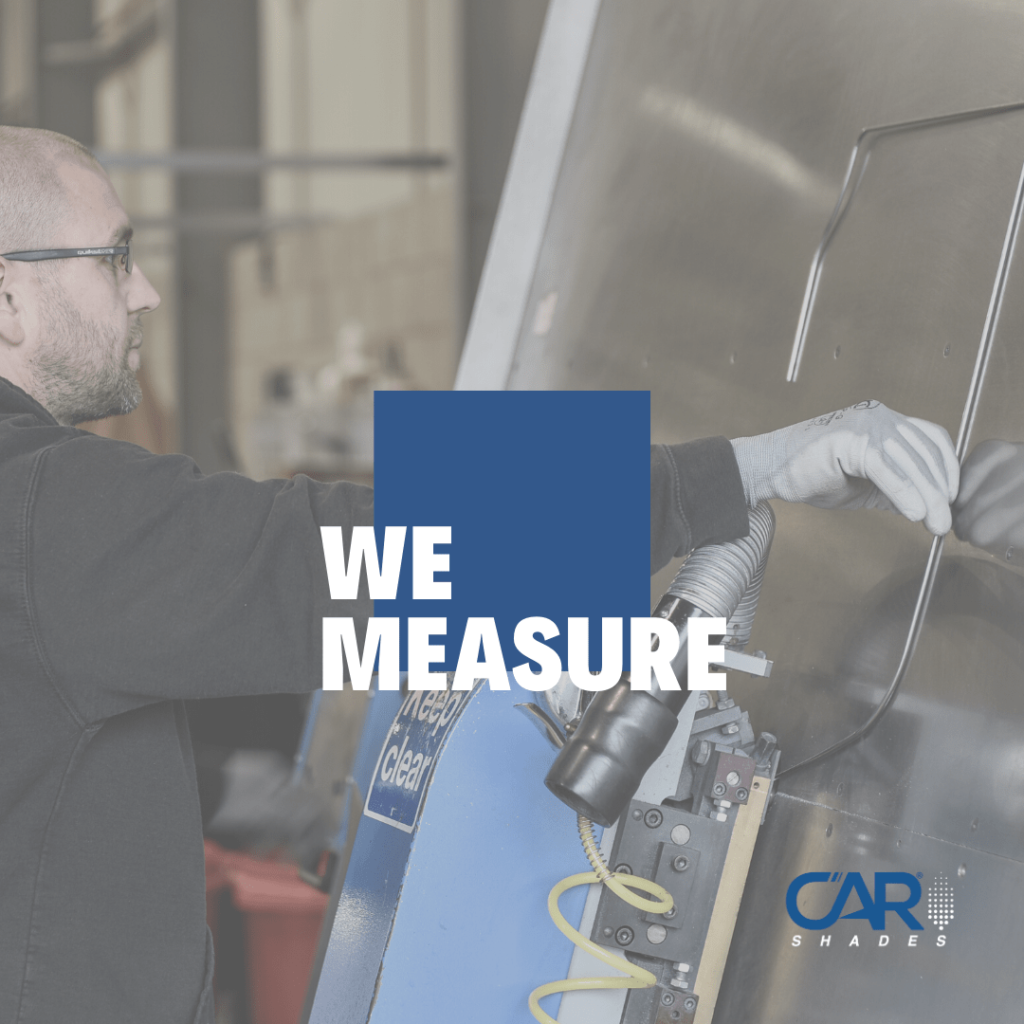 How we manufcature Car Shades measuring