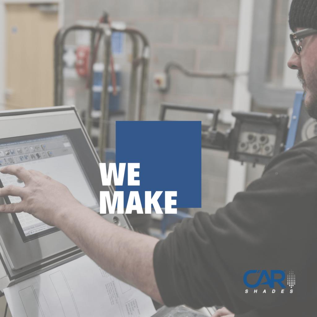 How we manufcature Car Shades - cnc machine